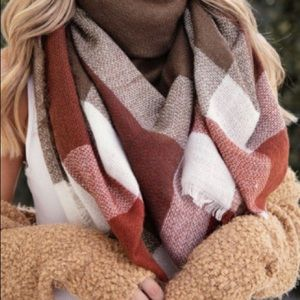 Accessories - NEW! Plaid Square Blanket Scarf